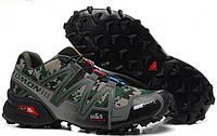 Кросівки чоловічі в стилі Salomon Speedcross 3  мілітарі, фото 1