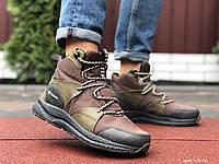 Кросівки чоловічі в стилі Columbia темно зелені  ( зима ), фото 1
