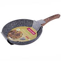 Сковорода Kamille 24см с антипригарным покрытием PTFE из алюминия для индукции и газа KM-4161, фото 1