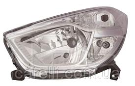 Фара левая электро Н4 для Renault Dokker/Lodgy 2012-