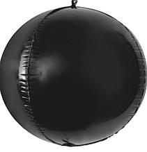 """Фольгована кулька 4D сфера чорний 22"""" (55см) Китай"""