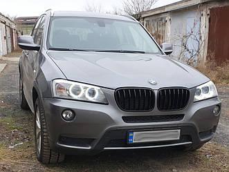 Решетка радиатора BMW X3 F25 (10-14) дорестайл ноздри (глянц)