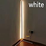 Кутовий підлоговий світлодіодний RGB LED торшер лампа з пультом, фото 8