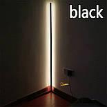 Кутовий підлоговий світлодіодний RGB LED торшер лампа з пультом, фото 9