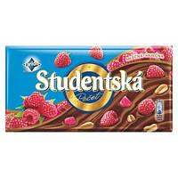 Шоколад молочный ORION Studentska Pecet молочный с арахисом и малиной
