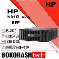 Системний блок HP ProDesk 400 G2.5 / SFF /  Intel core I5-4570 /  DDR3-4GB / SSD-120GB (к.0100008078-3), фото 1
