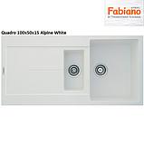 Прямокутна гранітна мийка Fabiano Quadro 100x50x1.5, фото 2