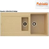 Прямокутна гранітна мийка Fabiano Quadro 100x50x1.5, фото 3
