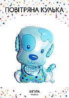 """Фольгированный шарик """"Собака"""" голубой 49x68см"""