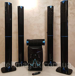 Комплект акустики  5 в1  Speaker ERAEAR  E V5   100W (USB/FM-радио/Bluetooth)
