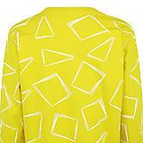 Кофта женская коттоновая желтая, стильный осенний свитшот, фото 2