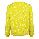 Кофта женская коттоновая желтая, стильный осенний свитшот, фото 3