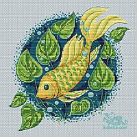 """Авторська схема для вишивання хрестиком """"Чарівна рибка"""" 20*20 см"""
