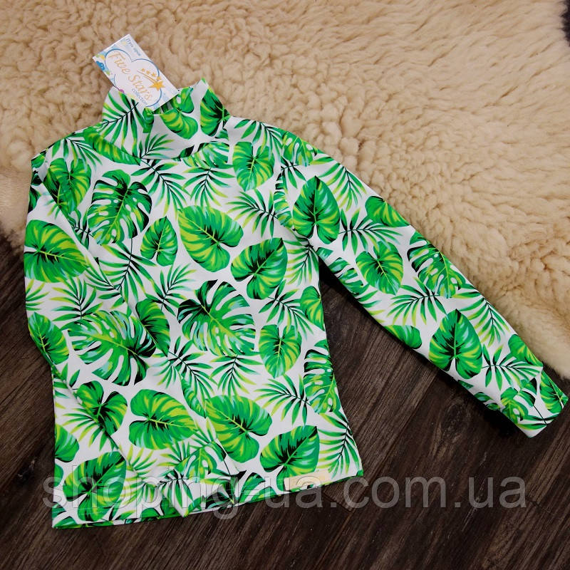 Детская водолазка - гольф тропические листья Five Stars KD0419-98р