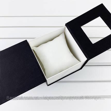 Подарочная Коробочка для часов без логотипа (черная) с подушкой, фото 2