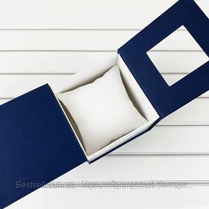 Подарочная Коробочка для часов без логотипа (Синяя) с подушкой, фото 2