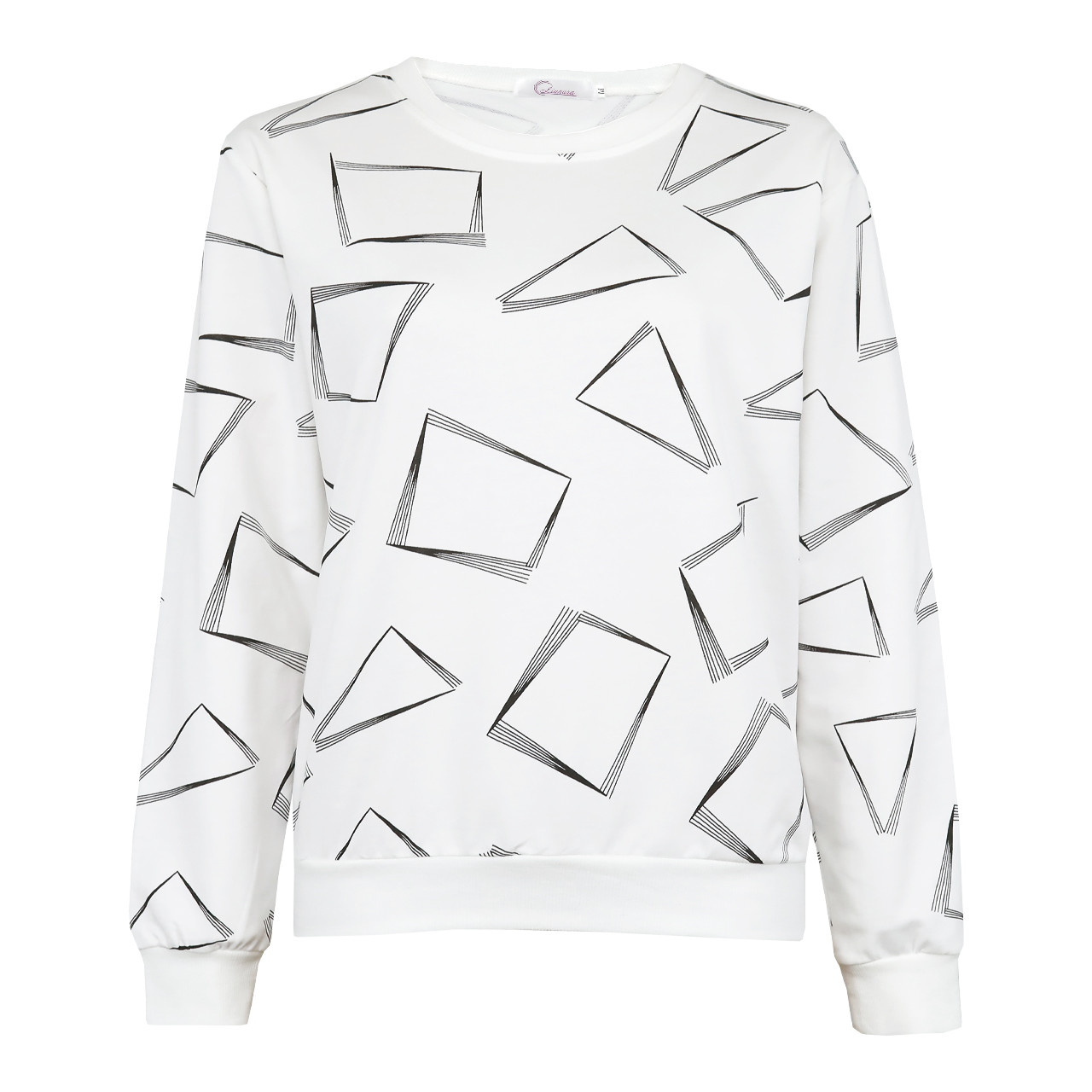 Кофта жіноча коттоновая біла, стильний світшот