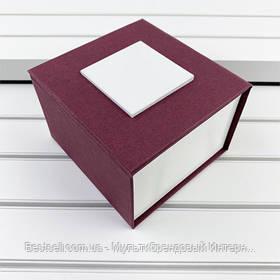 Подарочная Коробочка для часов без логотипа (Бордо) с подушкой