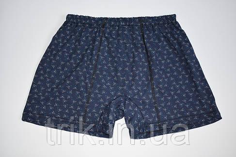 Трусы детские шортами треугольники на темном, фото 2