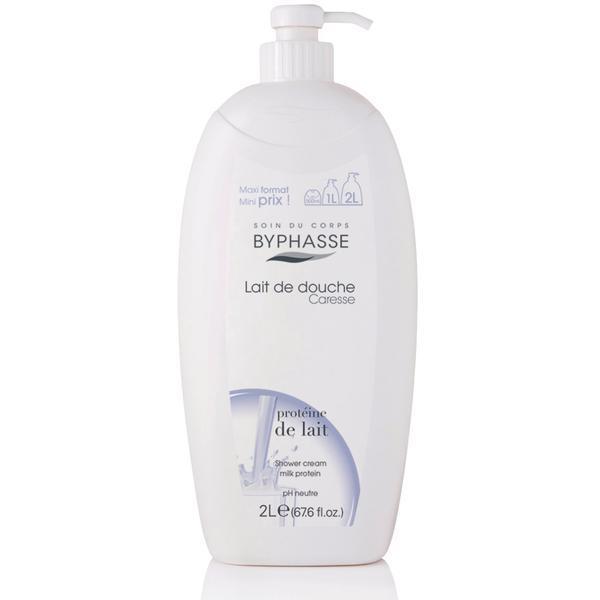 Byphasse Caresse Shower Cream new Крем для душа для душа Milk Protein 2 л