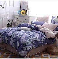Комплект постельного белья двуспальный Синяя экзотика бязь