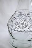 >>Колба для кальяна 2x2 Карма (Karma) прозрачная красивая дизайнерская роспись , фото 3