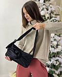Женская кожаная сумка клатч polina&eiterou черная, фото 6