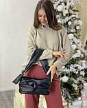 Женская кожаная сумка клатч polina&eiterou черная, фото 2