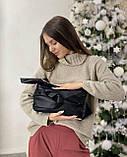 Женская кожаная сумка клатч polina&eiterou черная, фото 3
