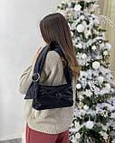 Женская кожаная сумка клатч polina&eiterou черная, фото 4