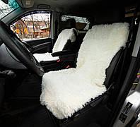Авточехол на сиденье из овечьей шкуры , белый , майка , натуральный 100%