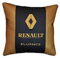 Подушка подарок автомобильная в машину с логотипом Renault рено