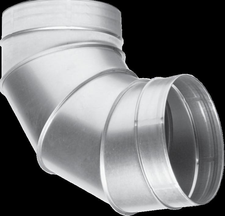 Отвод для вентиляционных каналов  90-1250