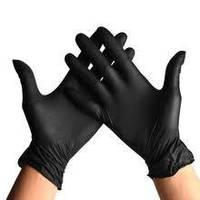 Перчатки нитриловые неопудренные CEROS- FINGERS XS Черные 100 шт