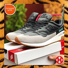 🔥 Кроссовки мужские спортивные New Balance 1500 черные кожаные кожа замшевые замша повседневные удобные