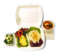 Упаковка для доставки еды из вспененного полистирола