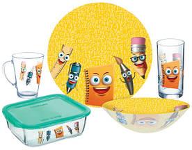 Набір дитячого посуду Luminarc Stationery P7866 5 предметів