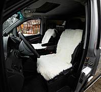 Накидка на сиденье автомобиля из овечьей шкуры , белый , майка , натуральный 100%