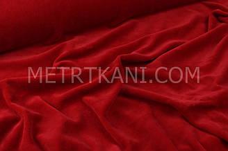 Велюр х/б красного цвета, ширина 180 см № В-042