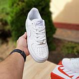 Мужские кроссовки в стиле Nike Air Force белые, фото 2