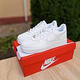 Мужские кроссовки в стиле Nike Air Force белые, фото 3