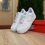 Мужские кроссовки в стиле Nike Air Force белые, фото 4