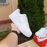 Мужские кроссовки в стиле Nike Air Force белые, фото 6