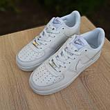 Мужские кроссовки в стиле Nike Air Force белые, фото 8