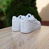 Мужские кроссовки в стиле Nike Air Force белые, фото 9