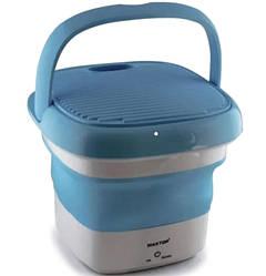 Складна пральна машина Maxtop 7399, силіконова, блакитна з білим