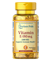 Витамин Е (Vitamin E) Puritan's Pride, Витамин Е 400 (DL-альфа-токоферол) 250 капс.