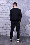 Свитшот чёрный с чёрными лампасами Fila, фото 3