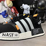 Off-White x Adidas Nmd Nasty Black, фото 9