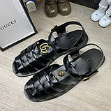 Сандалии Gucci Rubber Buckle Strap Black, фото 6